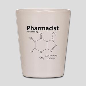 Powered by Caffeine Shot Glass