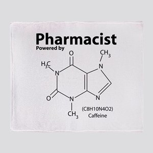 Powered by Caffeine Throw Blanket