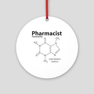Powered by Caffeine Round Ornament