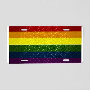 Pride Diamond Plate Aluminum License Plate