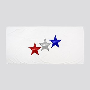 Three Shiny Stars Beach Towel