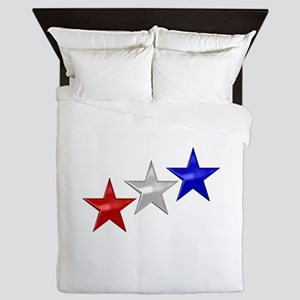 Three Shiny Stars Queen Duvet