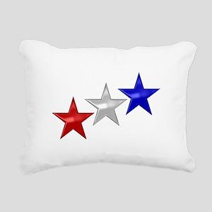 Three Shiny Stars Rectangular Canvas Pillow