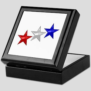 Three Shiny Stars Keepsake Box