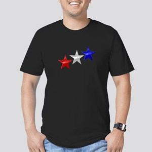 Three Shiny Stars Men's Fitted T-Shirt (dark)