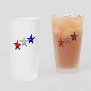 Three Shiny Stars Drinking Glass