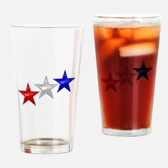 Three Shiny Stars Drinking Glass