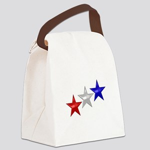 Three Shiny Stars Canvas Lunch Bag