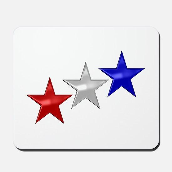 Three Shiny Stars Mousepad
