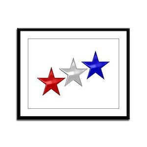 Three Shiny Stars Framed Panel Print