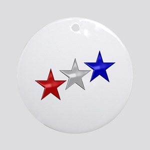 Three Shiny Stars Ornament (Round)
