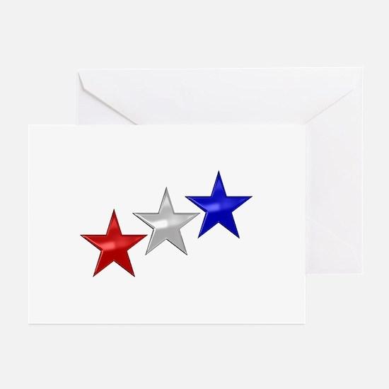 Three Shiny Stars Greeting Cards (Pk of 20)