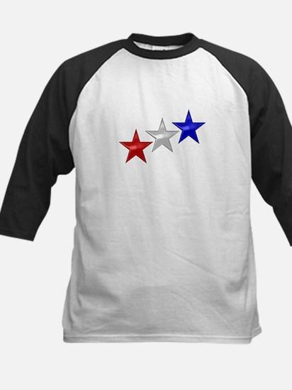 Three Shiny Stars Kids Baseball Jersey