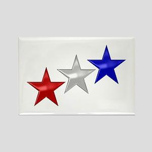 Three Shiny Stars Rectangle Magnet