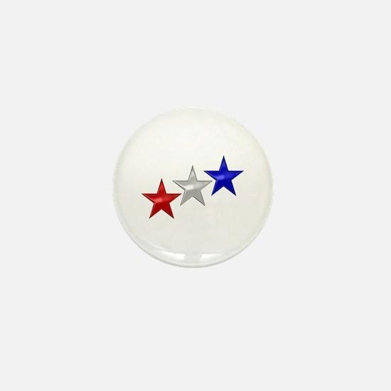 Three Shiny Stars Mini Button
