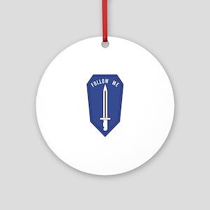 Army Infantry School Ornament (Round)