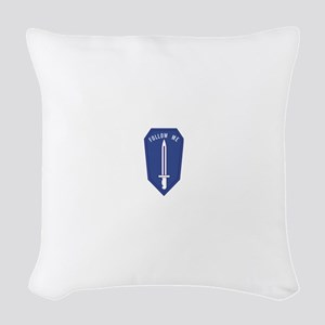 Army Infantry School Woven Throw Pillow