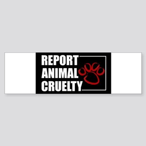 reportcruelty.sticker_flat Bumper Sticker