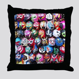 Mexican Wrestling Masks Throw Pillow
