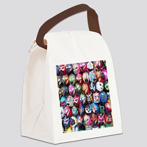 Mexican Wrestling Masks Canvas Lunch Bag