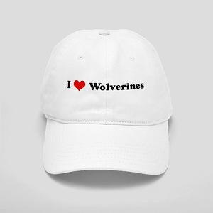 I Love Wolverines Cap