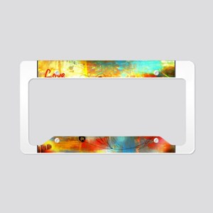 Abstract Peace License Plate Holder