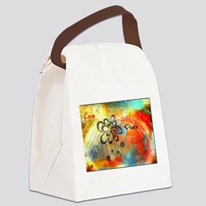 Abstract Peace Canvas Lunch Bag