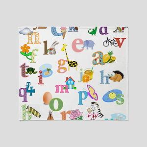 J'apprends l'alphabet francais Throw Blanket
