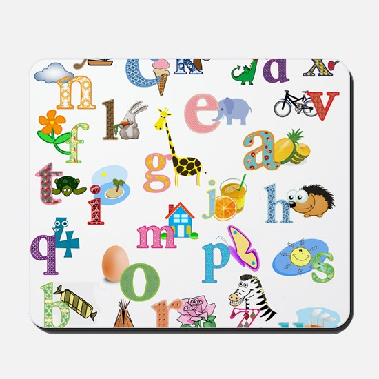 J'apprends l'alphabet francais Mousepad