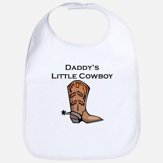 Daddys Little Cowboy Bib