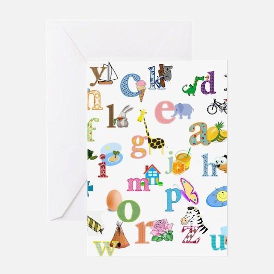 J'apprends l'alphabet francais Greeting Cards