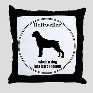 Rottie Enough Throw Pillow