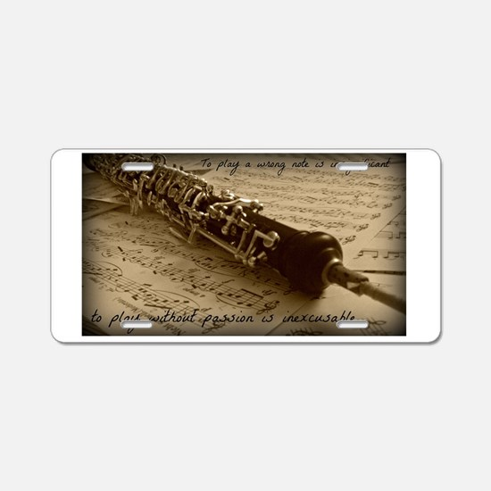 Beethoven Oboe Aluminum License Plate