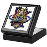 Uss minnesota Square Keepsake Boxes