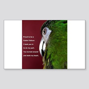 Severe Macaw with Quote Sticker
