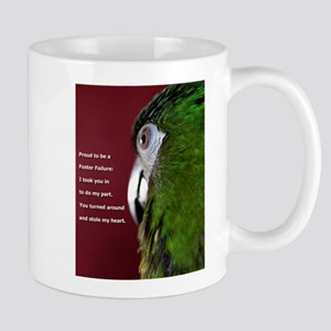 Severe Macaw with Quote Mugs