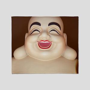 Laughing Buddha Throw Blanket