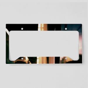 Swirls in dark - 35mm analog  License Plate Holder