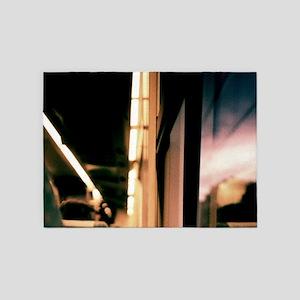 Swirls in dark - 35mm analog film 5'x7'Area Rug