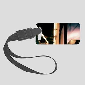 Swirls in dark - 35mm analog fil Small Luggage Tag