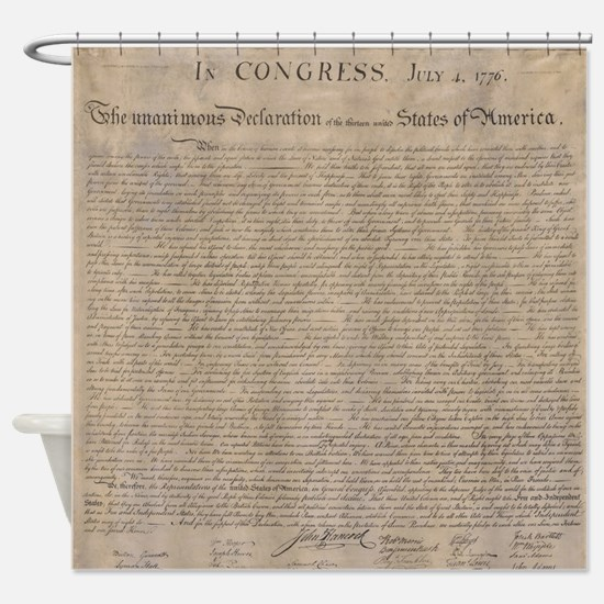 Declaration of independence shower curtains cafepress us declaration independence shower curtain publicscrutiny Image collections