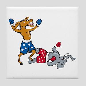 Triumphant Democratic Donkey Tile Coaster