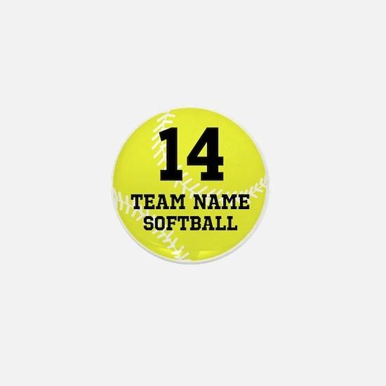 Personalize Softball Mini Button