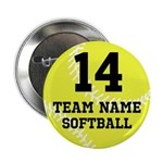 """Personalize Softball 2.25"""" Button (10 pack)"""