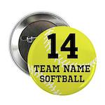 "Personalize Softball 2.25"" Button"