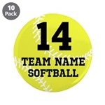 """Personalize Softball 3.5"""" Button (10 pack)"""