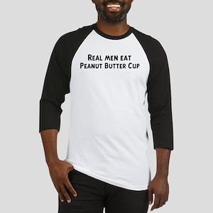 Men eat Peanut Butter Cup Baseball Jersey
