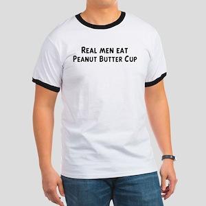 Men eat Peanut Butter Cup Ringer T