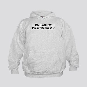 Men eat Peanut Butter Cup Kids Hoodie
