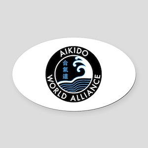 AWA Logo Standard Oval Car Magnet